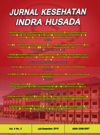 Jurnal Indra Husada Vol.4 No.2 2016