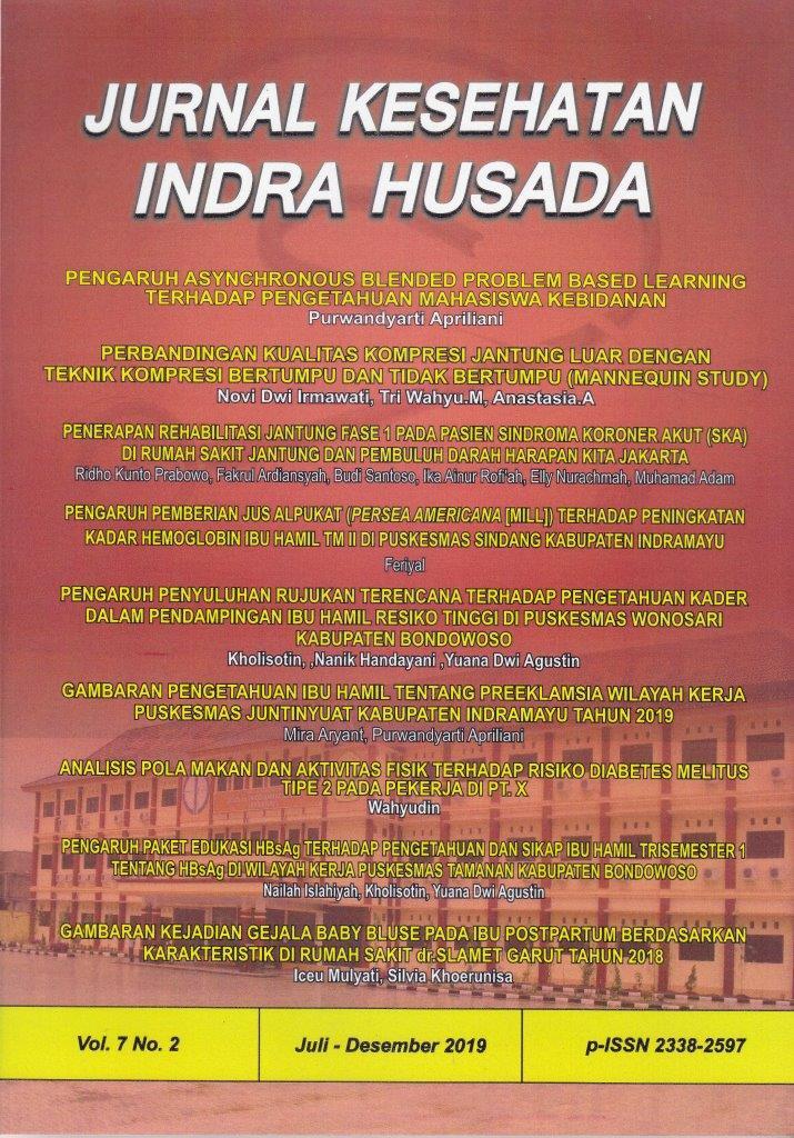 Jurnal Kesehatan Indra Husada Vol 7, No 2