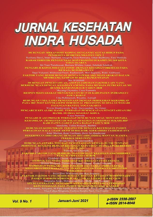 Jurnal Kesehatan Indra Husada Vol 9 No 1 Tahun 2021