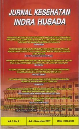 Jurnal Kesehatan Indra Husada Vol.5 No.2 2017